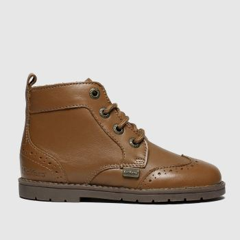 Kickers Tan Orin Brogue Boot Boys Toddler