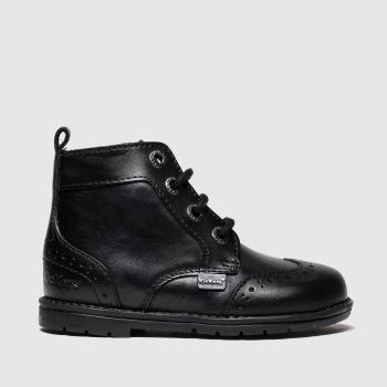Kickers Black Orin Brogue Boys Toddler