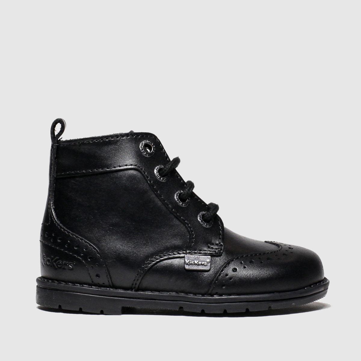 Kickers Black Orin Brogue Boots Toddler