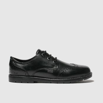 Kickers Black Orin Brogue Lo Boys Toddler