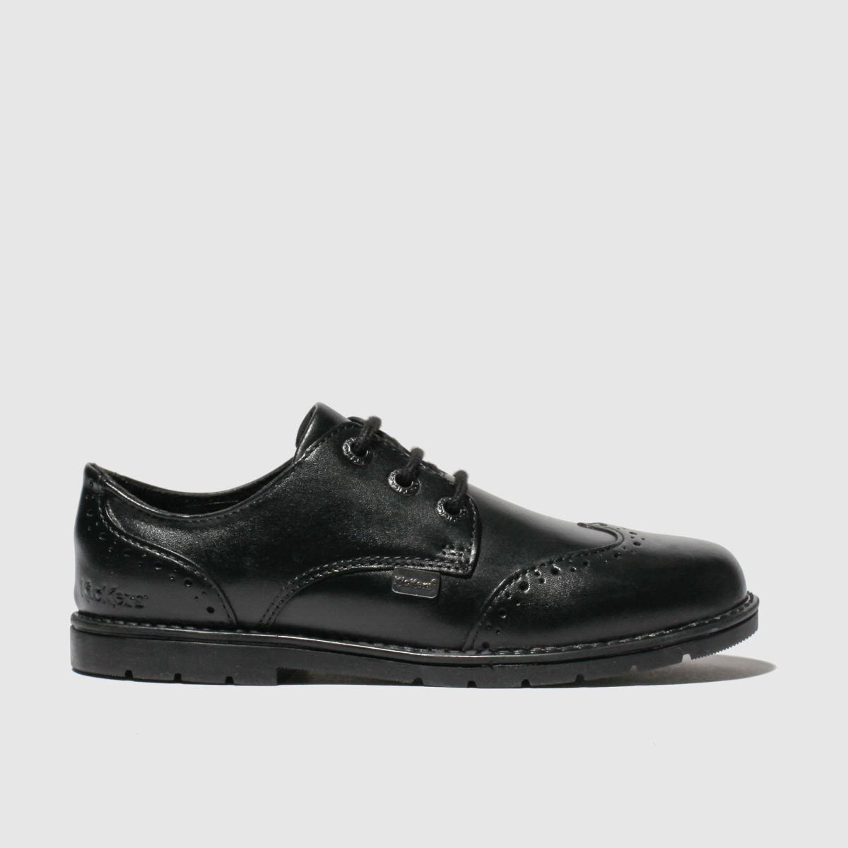 Kickers Black Orin Brogue Lo Shoes Toddler