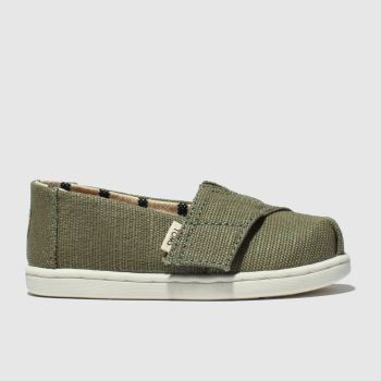 Toms Khaki Classic Boys Toddler