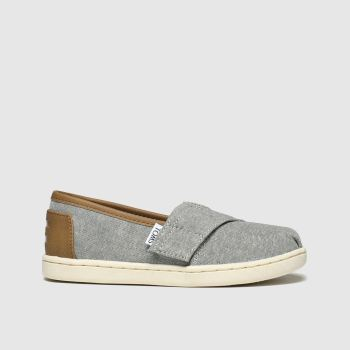 Toms Light Grey Classic Boys Toddler