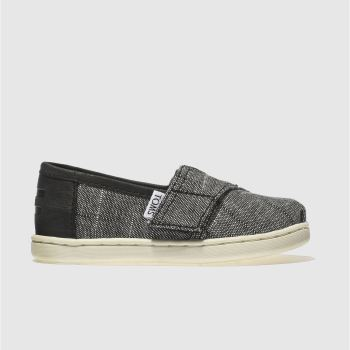 Toms Black CLASSIC Boys Toddler