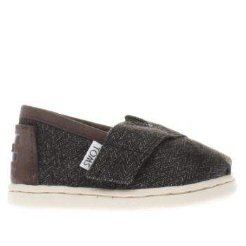 TOMS DARK GREY CLASSIC BOYS TODDLER SHOES