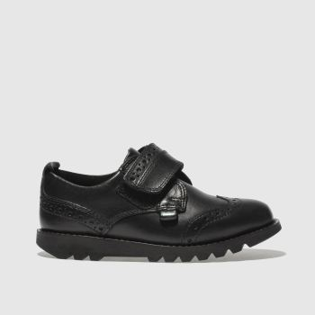 Kickers Black Kymbo Brogue Strap c2namevalue::Boys Toddler