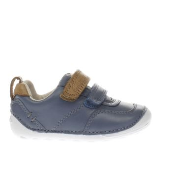 CLARKS BLUE TINY ASPIRE BOYS TODDLER SHOES