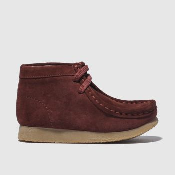 Clarks Originals Burgundy Wallabee First Boys Toddler