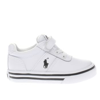 POLO RALPH LAUREN WHITE HANFORD BOYS TODDLER TRAINERS