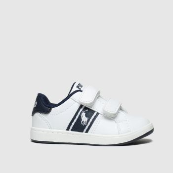 polo ralph lauren white & navy quigley 2v boots toddler