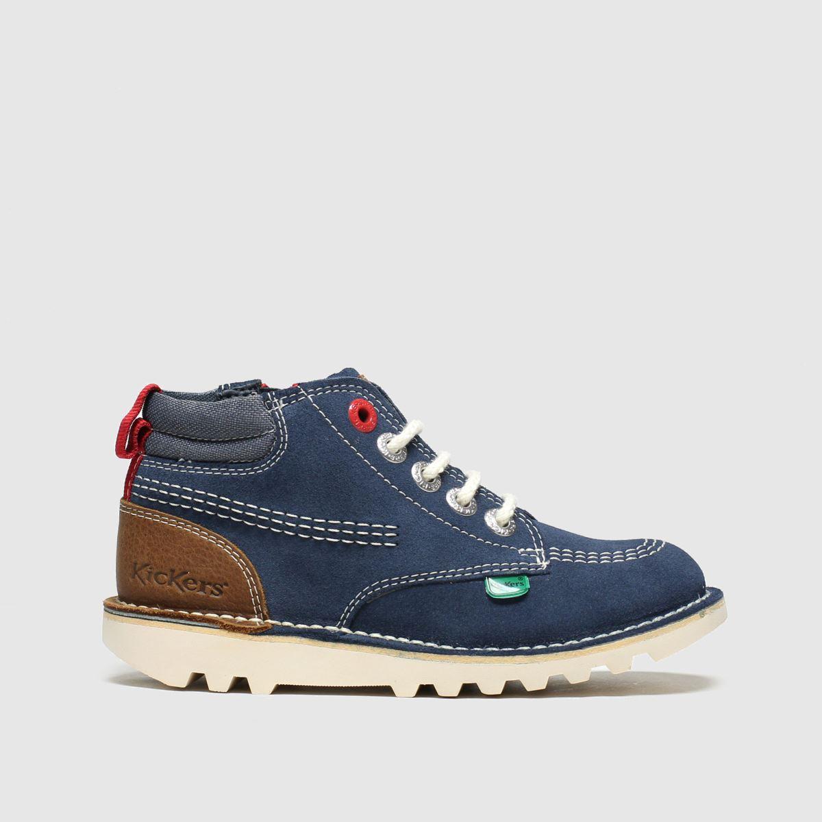 Kickers Navy Kick Hi Stroll Boots Toddler