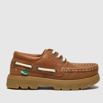 Kickers Tan Lennon Boatshoe Boys Toddler