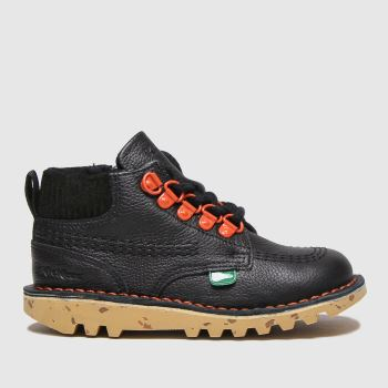 Kickers Black Hi Winter Boys Toddler