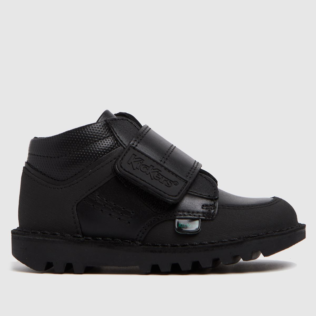 Kickers Black Mid Scuff Boots Toddler