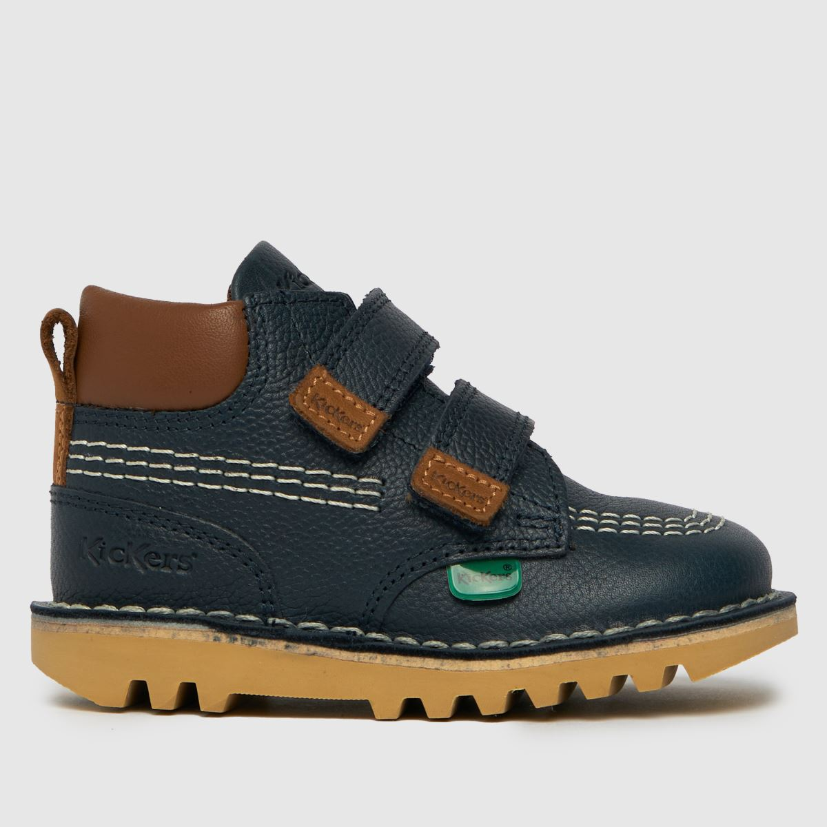 Kickers Navy Hi Roll Boots Toddler