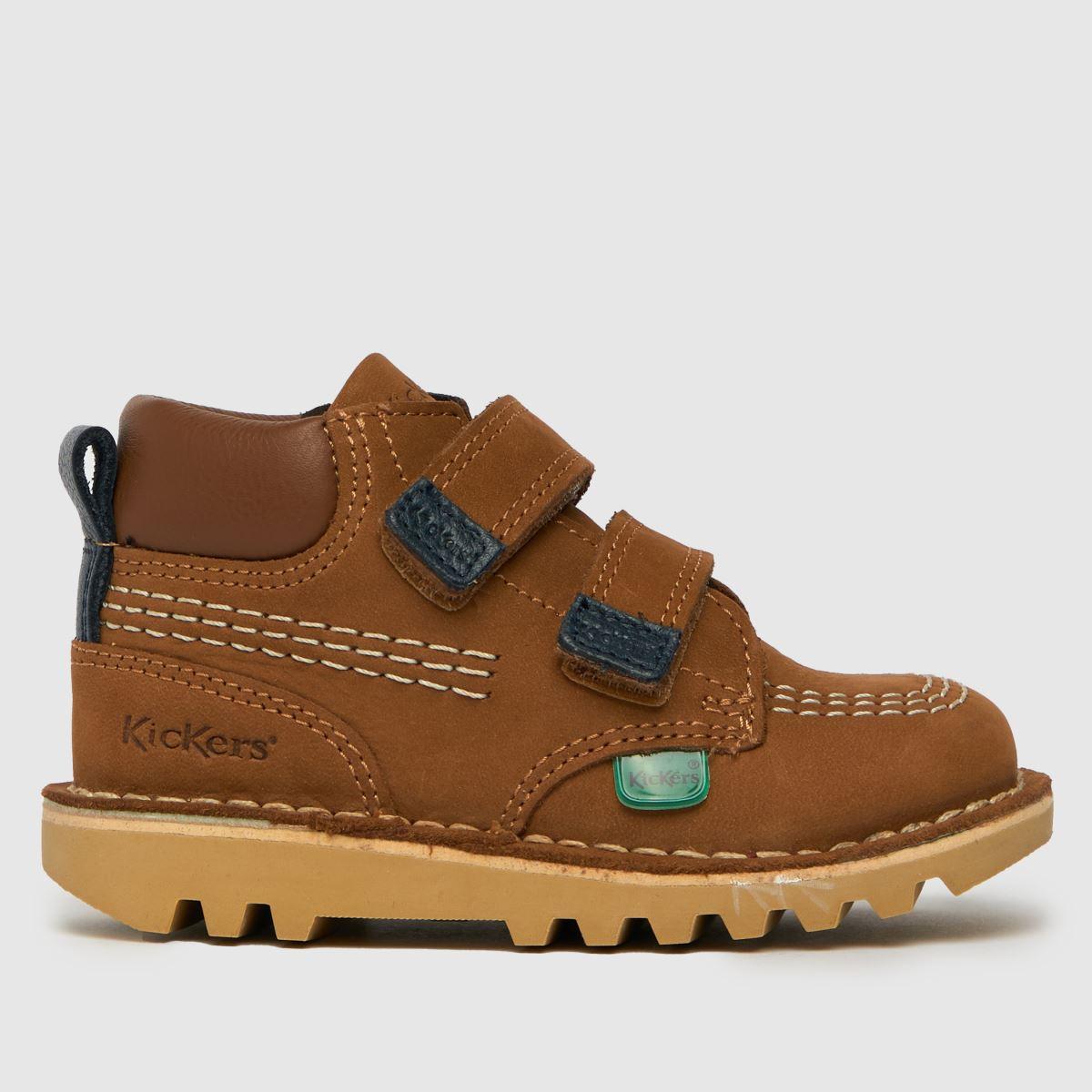 Kickers Tan Hi Roll Boots Toddler