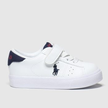 Polo Ralph Lauren White & Navy Theron Boys Toddler