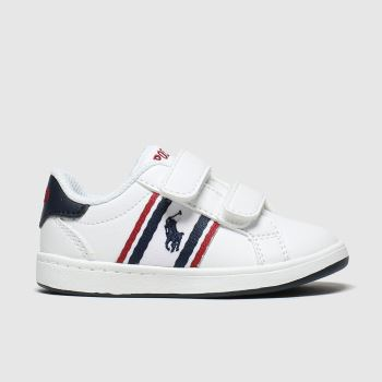 Polo Ralph Lauren White & Navy Oaklynn Boys Toddler