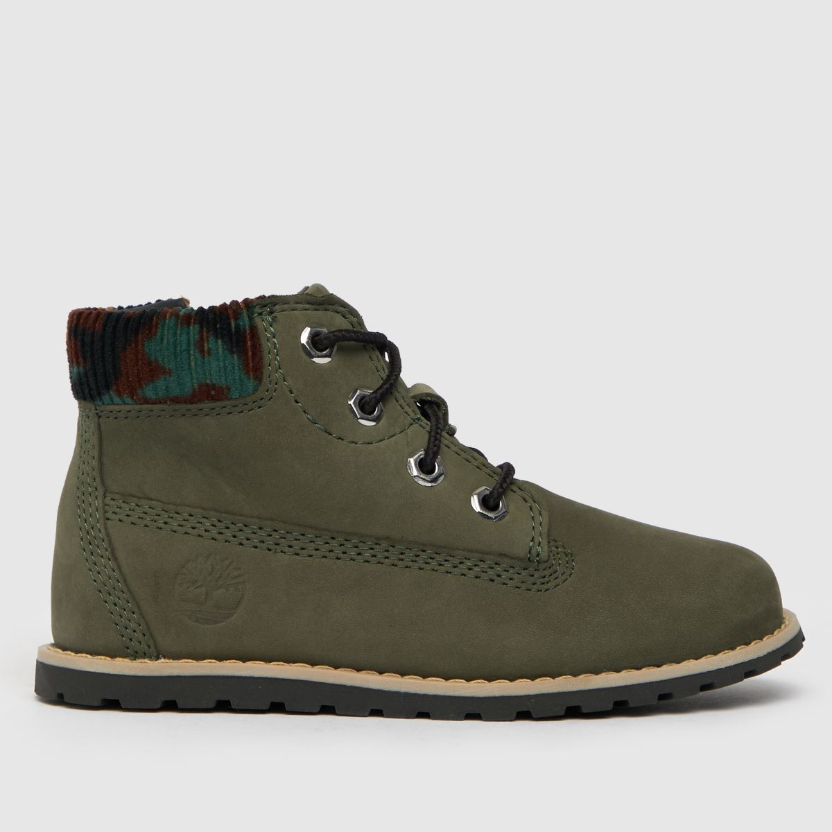Timberland Dark Green Pokey Pine Zip Camo Boots Toddler