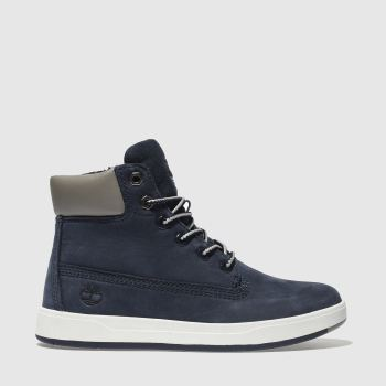Timberland Navy Davis Square 6 Inch c2namevalue::Boys Junior