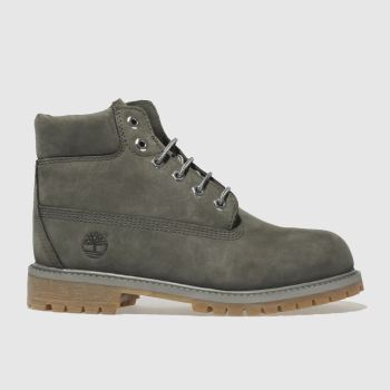 Timberland Dark Grey 6 Inch Premium Boys Junior