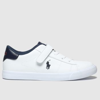 Polo Ralph Lauren White & Navy Pierce Ii Boys Junior