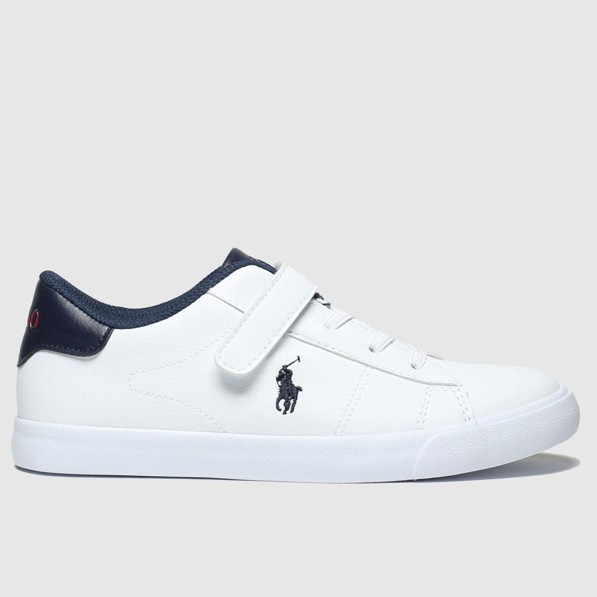 Polo Ralph Lauren White & Navy Pierce Ii Boots Junior