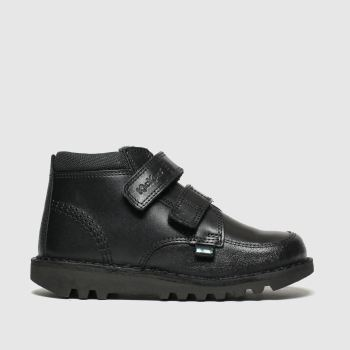 Kickers Black Kick Scuff Hi Boys Junior
