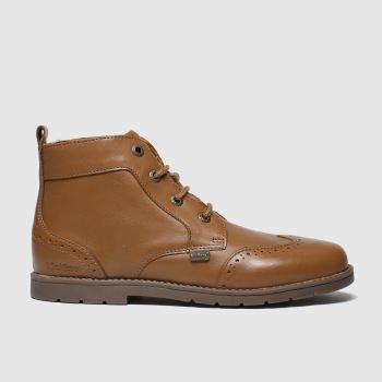 kickers tan orin brogue boots junior