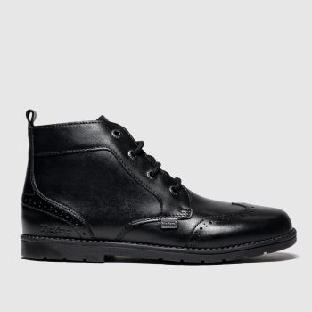 Kickers Black Orin Brogue Boys Junior