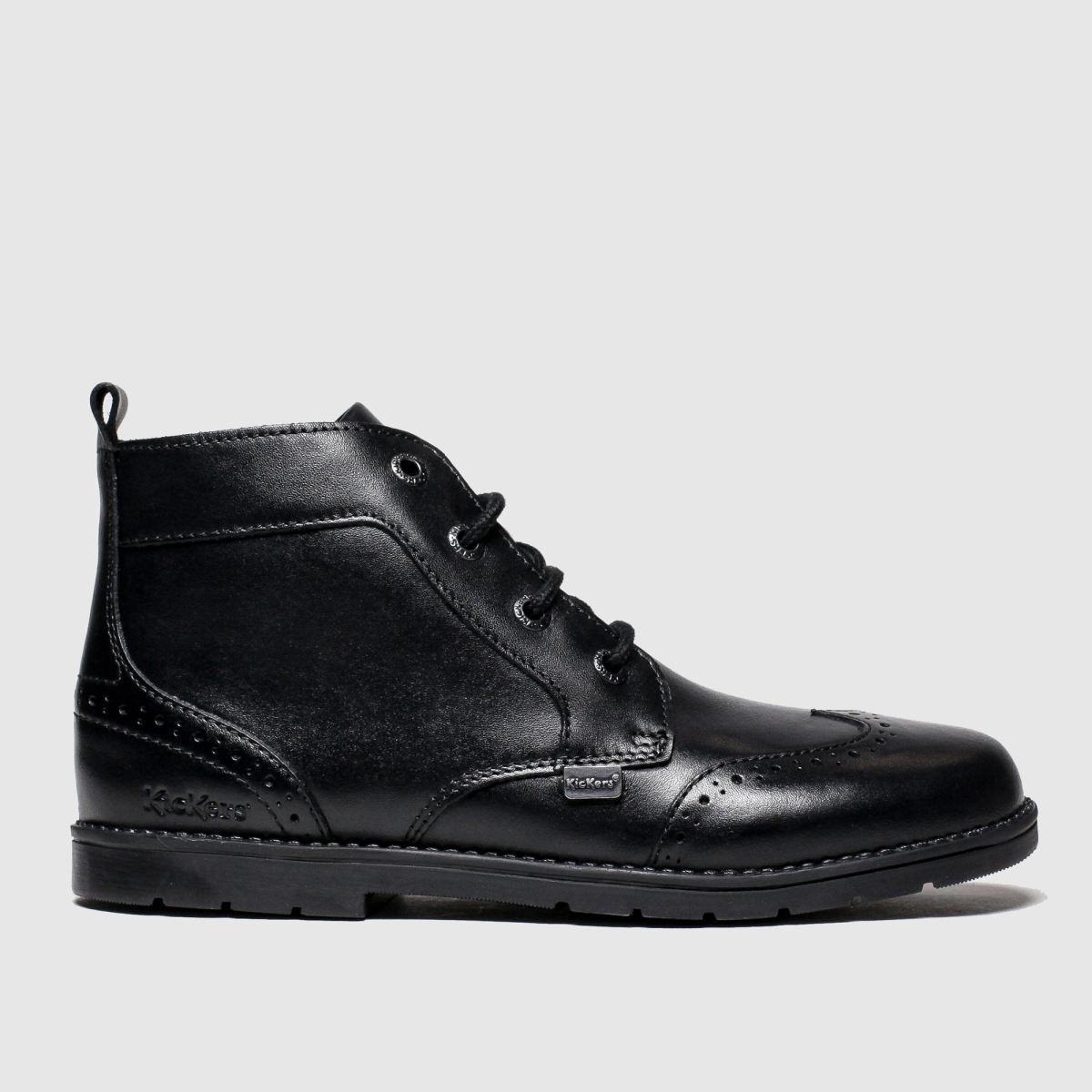 Kickers Black Orin Brogue Boots Junior