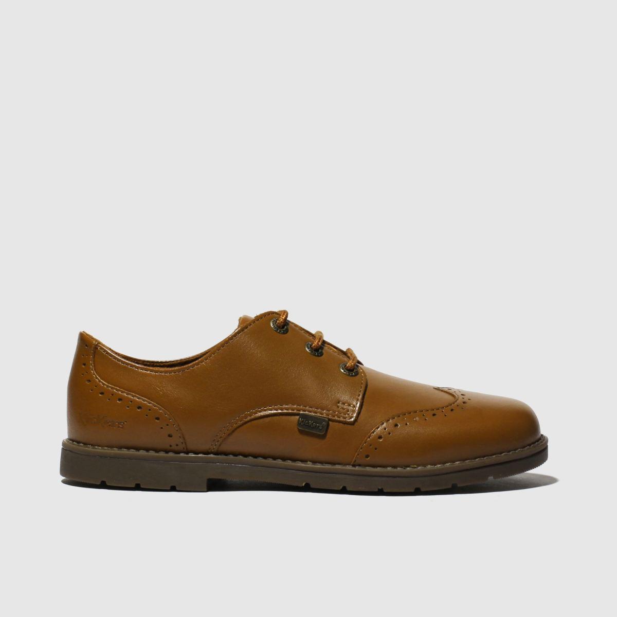 Kickers Tan Orin Brogue Lo Shoes Junior