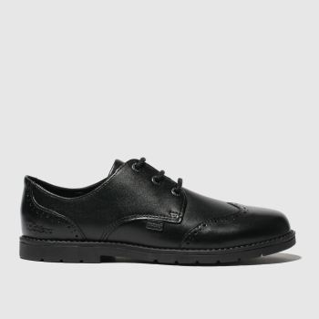 Kickers Black Orin Brogue Lo Boys Junior