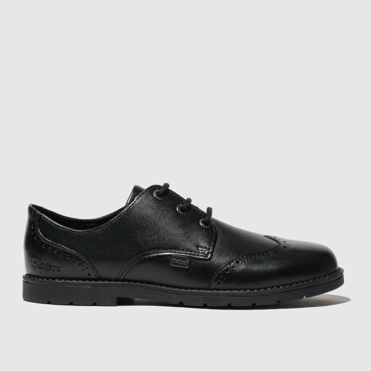 Kickers Black Orin Brogue Lo Shoes Junior