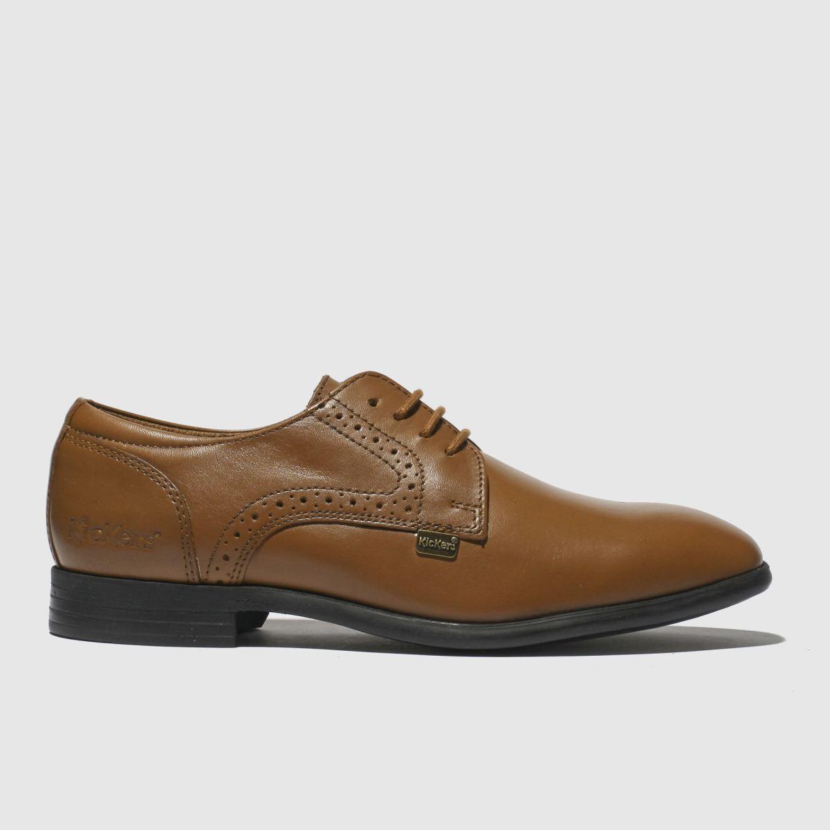 Kickers Tan Jarle Lace Up Shoes Junior
