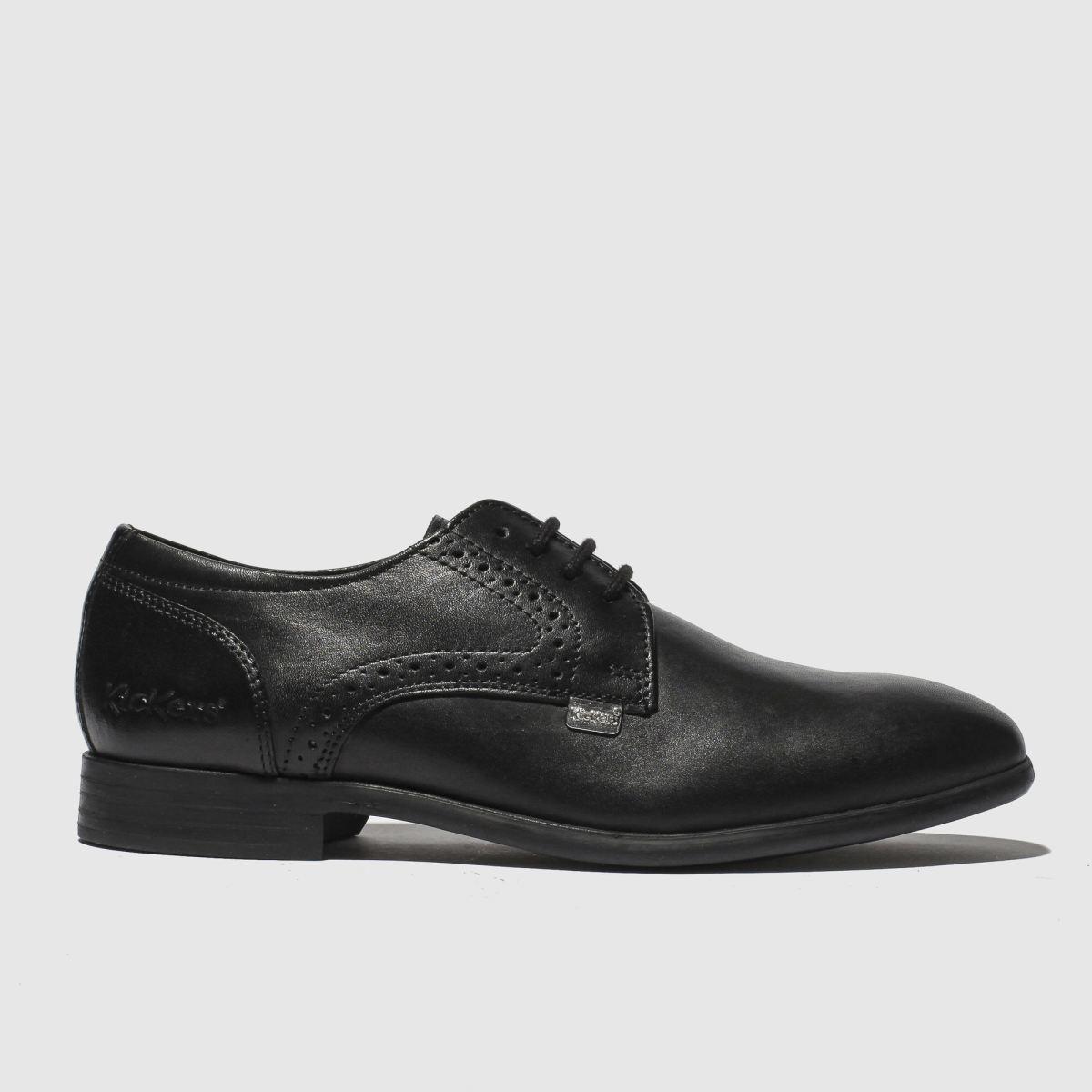 Kickers Black Jarle Lace Up Shoes Junior