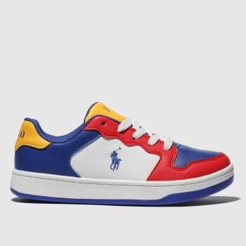 POLO RALPH LAUREN navy & red jessup shoes junior