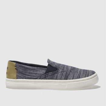 TOMS NAVY LUCA BOYS JUNIOR SHOES