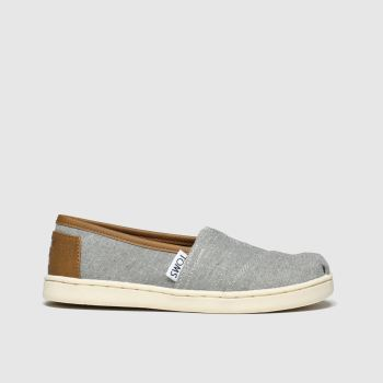 Toms Light Grey Classic Boys Junior