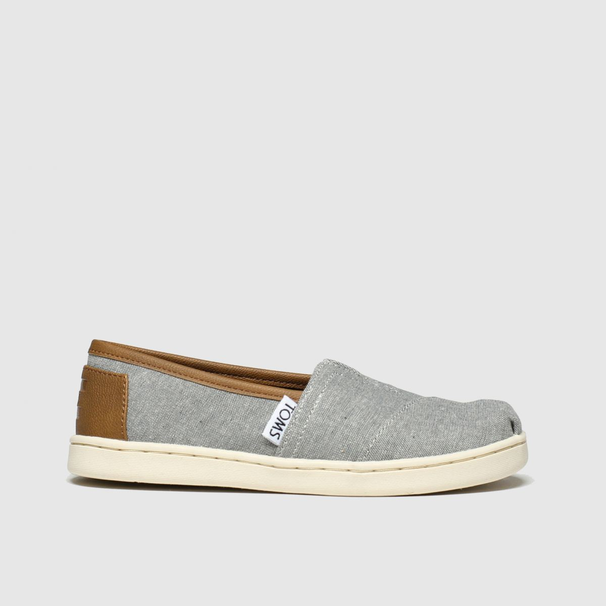 Toms Light Grey Classic Boots Junior