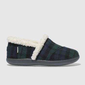 Toms Dark Green House Slipper Boys Junior