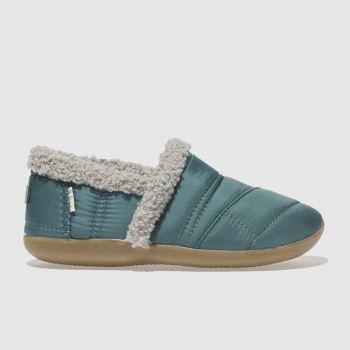 Toms Blue House Slipper Boys Junior