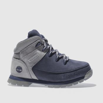 TIMBERLAND NAVY & GREY EUROSPRINT BOYS JUNIOR BOOTS