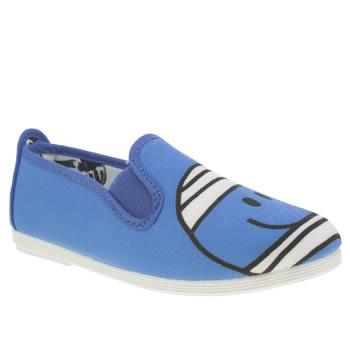 Boys Blue Flossy Mr Bump Boys Junior Schuh