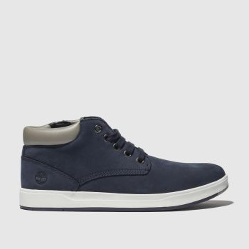 timberland navy davis square boots junior