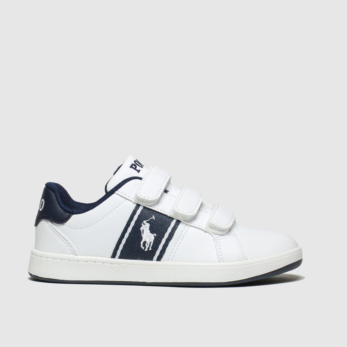 Polo Ralph Lauren White & Navy Quigley 3v Boots Junior