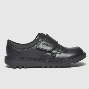 Kickers Black Scuff Lo Boys Junior