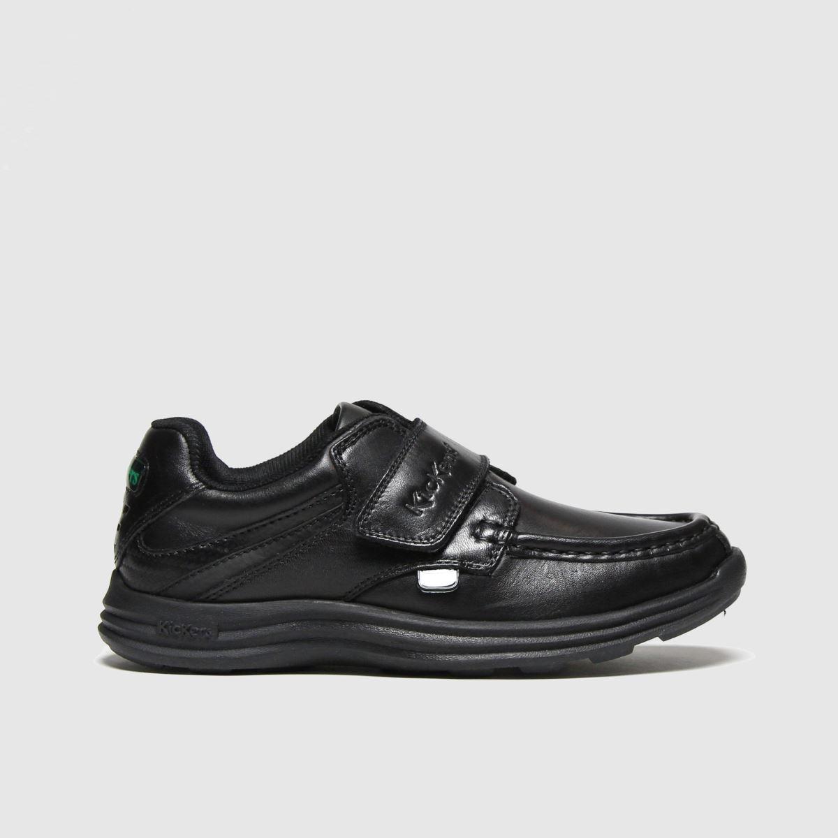 Kickers Black Reasan Strap Boots Junior