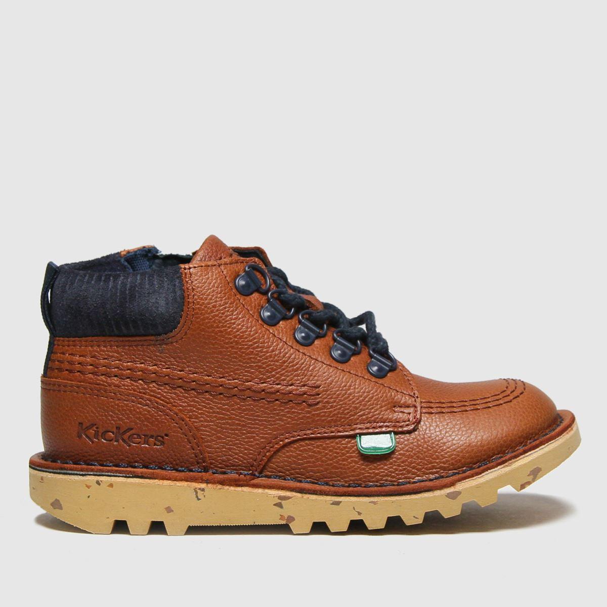 Kickers Tan Hi Winter Boots Junior