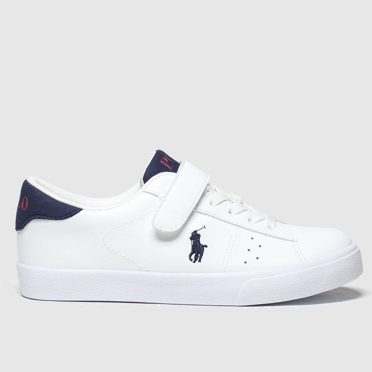 Polo Ralph Lauren White & Navy Theron Boots Junior